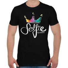 PRINTFASHION Szelfi királynő - Férfi póló - Fekete