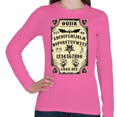 PRINTFASHION Szellemidézés - Oujia tábla - Női hosszú ujjú póló - Rózsaszín