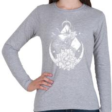PRINTFASHION Szent szarvas - Női hosszú ujjú póló - Sport szürke