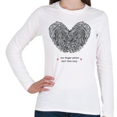 PRINTFASHION Szerelem pecsétje - Női hosszú ujjú póló - Fehér