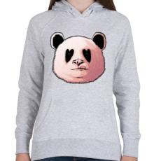 PRINTFASHION Szerelmes panda - Női kapucnis pulóver - Sport szürke