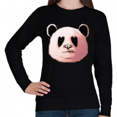 PRINTFASHION Szerelmes panda - Női pulóver - Fekete