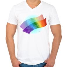 PRINTFASHION Szerelmes szivek2 - Férfi V-nyakú póló - Fehér