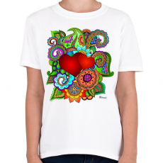 PRINTFASHION Szerelmes szivek - Gyerek póló - Fehér