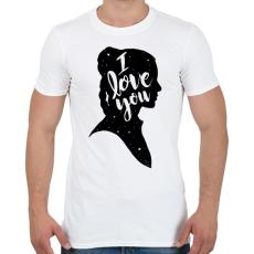PRINTFASHION Szeretlek! - Férfi póló - Fehér