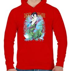 PRINTFASHION Szirén - Férfi kapucnis pulóver - Piros