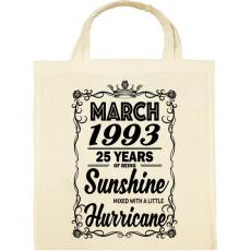 PRINTFASHION Születésnap - Napfény egy kis hurrikánnal! - Vászontáska - Natúr