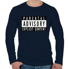 PRINTFASHION Szülői felügyelettel - Férfi hosszú ujjú póló - Sötétkék