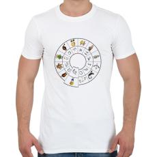 PRINTFASHION Szűz - Férfi póló - Fehér