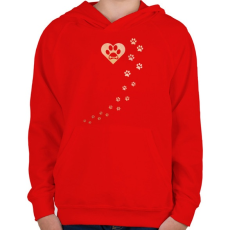 PRINTFASHION Tappancsok - Gyerek kapucnis pulóver - Piros