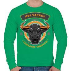 PRINTFASHION Taurus - Férfi pulóver - Zöld