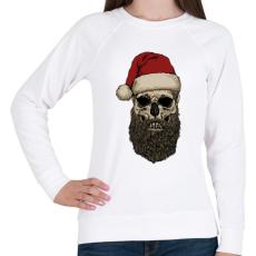 PRINTFASHION Télapó szakálla - Női pulóver - Fehér