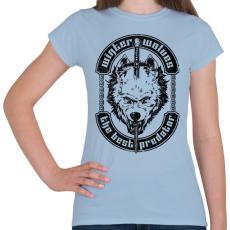 PRINTFASHION Télen a farkasok a legjobb ragadozók - Női póló - Világoskék