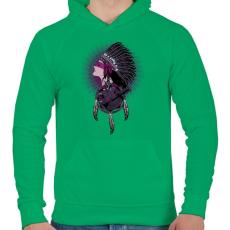 PRINTFASHION Tények - Férfi kapucnis pulóver - Zöld