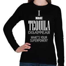 PRINTFASHION Tequila disappear - Női hosszú ujjú póló - Fekete