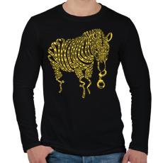 PRINTFASHION Természetkárosítás - Férfi hosszú ujjú póló - Fekete