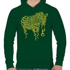 PRINTFASHION Természetkárosítás - Férfi kapucnis pulóver - Sötétzöld