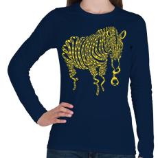 PRINTFASHION Természetkárosítás - Női hosszú ujjú póló - Sötétkék