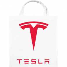 PRINTFASHION Tesla - Vászontáska - Fehér