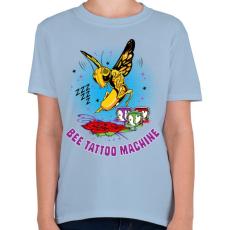 PRINTFASHION Tetováló gép - Gyerek póló - Világoskék