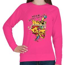PRINTFASHION Tetováló gyár - Női pulóver - Fukszia
