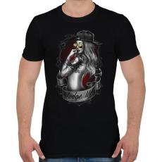 PRINTFASHION Tetovált lány - Férfi póló - Fekete