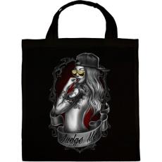 PRINTFASHION Tetovált lány - Vászontáska - Fekete
