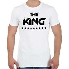 PRINTFASHION The King - Férfi póló - Fehér