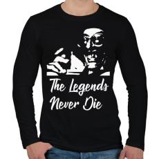 PRINTFASHION The Legends Never Die - Grga Pitic - Férfi hosszú ujjú póló - Fekete