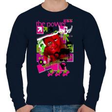 PRINTFASHION THE POWER - Férfi pulóver - Sötétkék