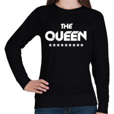 PRINTFASHION The Queen - Női pulóver - Fekete