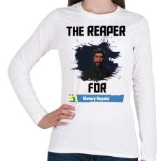 PRINTFASHION The Reaper - Női hosszú ujjú póló - Fehér
