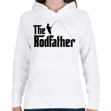 PRINTFASHION The Rodfather Fekete - Női kapucnis pulóver - Fehér