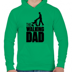 PRINTFASHION The Walking Dad - Férfi kapucnis pulóver - Zöld