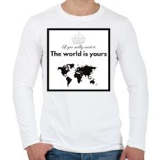 PRINTFASHION The world is yours.png - Férfi hosszú ujjú póló - Fehér