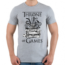 PRINTFASHION Throne of Games - Férfi póló - Sport szürke
