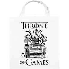 PRINTFASHION Throne of Games - Vászontáska - Fehér