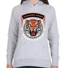 PRINTFASHION Tigris - Női kapucnis pulóver - Sport szürke