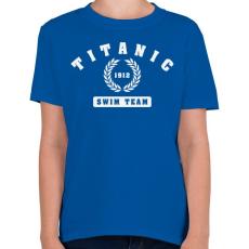 PRINTFASHION titanic-swim-team-white - Gyerek póló - Királykék