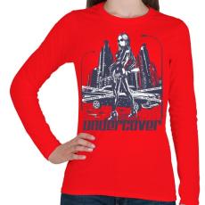 PRINTFASHION Titkos - Női hosszú ujjú póló - Piros