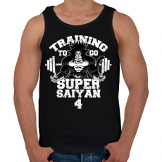 PRINTFASHION Training to go super saiyan 4 - Férfi atléta - Fekete