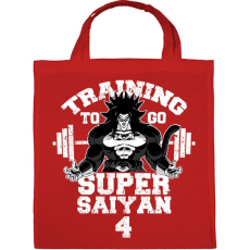 PRINTFASHION Training to go super saiyan 4 - Vászontáska - Piros