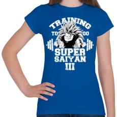 PRINTFASHION Training to go super saiyan - Női póló - Királykék