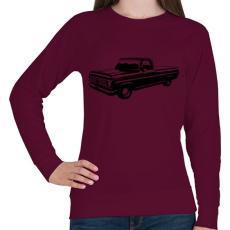 PRINTFASHION Truck - Női pulóver - Bordó