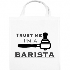 PRINTFASHION Trust Me I'm a BARISTA - Vászontáska - Fehér