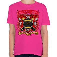 PRINTFASHION Tűzoltó - Gyerek póló - Helikónia