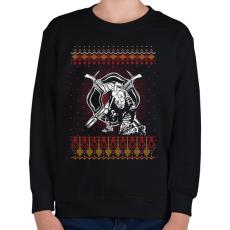 PRINTFASHION Tűzoltó karácsony - Gyerek pulóver - Fekete