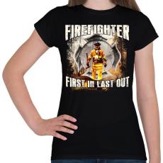 PRINTFASHION Tűzoltó - Női póló - Fekete