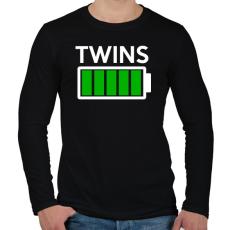 PRINTFASHION TWINS - Férfi hosszú ujjú póló - Fekete