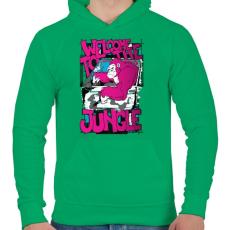 PRINTFASHION Üdv a dzsungelben  - Férfi kapucnis pulóver - Zöld